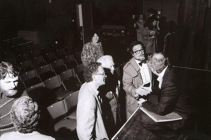 Oliver Knussen, CM, Elliot Carter, Leon Fleisher, Richard Bernas in conversation post-concert