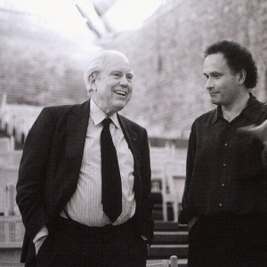 Elliott Carter & CM in conversation in Snape Maltings concert hall
