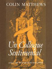 Cover of score for uncolloque sentimenal