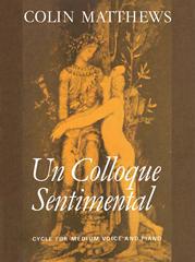 Cover of score for uncolloque sentimenal