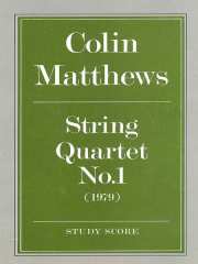 Cover of score for string quartet no.1