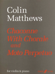 cover of score for chaconne with choral & moto perpetuo