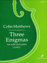 Cover of score for three enigmas
