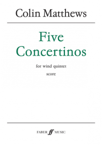 Cover for score of five concertinos