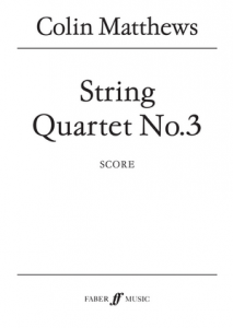 Cover of the Score for String Quartet No. 3