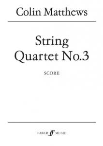 Cover of the Score for String Quartet No. 3