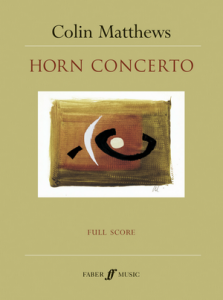 Cover of score for the horn concerto
