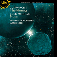 Cover of CD for Holst - the planets with an image of pluto
