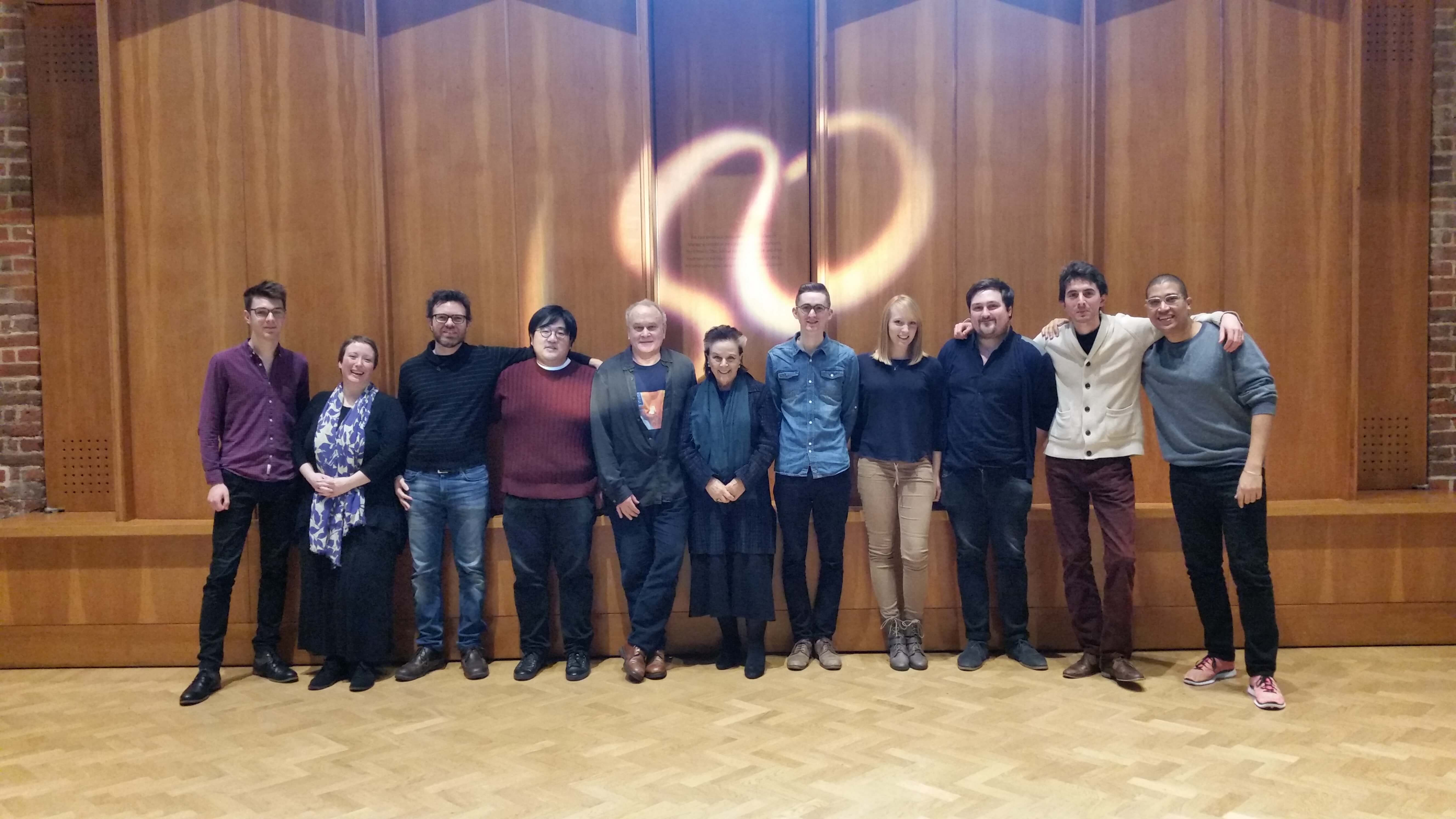 Group photo of Panufnik Composers