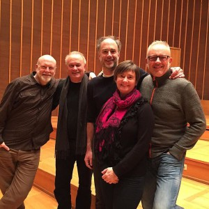 Photo of CM with the Berlin Oboe Quartet