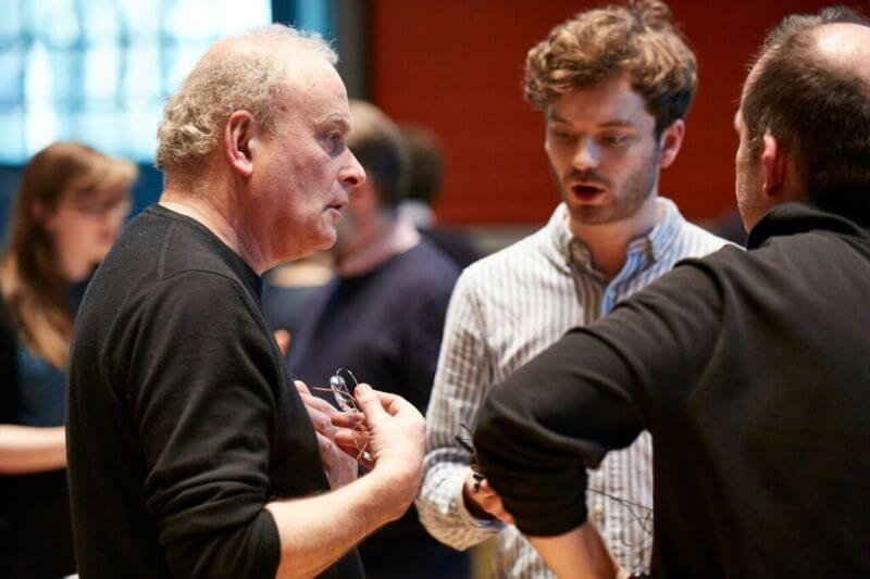 CM, Jack Sheen, François-Xavier Roth at LSO Panufnik Workshop, March 2016 (Photo: Kevin Leighton)
