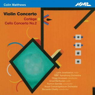 Cover of CD of violin concerto featuring an abstract painting (portrait of CM composer) by Jack Smith