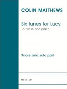 Cover of sheet music for six tunes for lucy