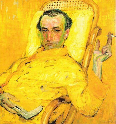 A portrait of the poet Baudelaire