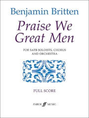 Cover of score for Britten's Praise We Great Men