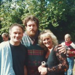 Oliver Knussen (centre) with Colin and Belinda Matthews