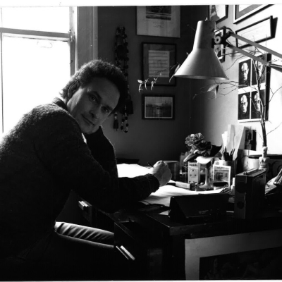 Colin Matthews at his text, writing a score