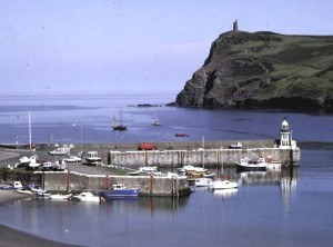 A view of the harbour at Port Erin