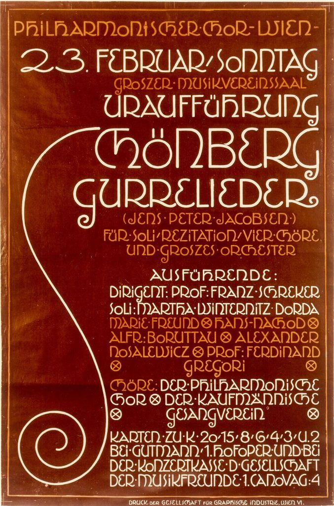 Gurrelieder poster for first perfomance in 1913