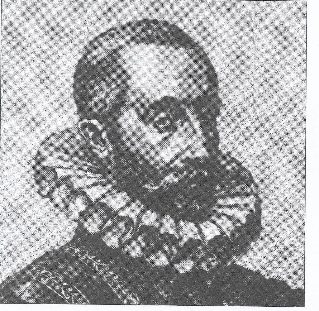 sketch portrait of Spanish Conquistador Cabeza de Vaca
